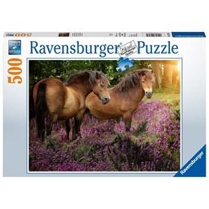 "Ravensburger (14813) - ""Ponies In The Heath"" - 500 pieces puzzle"