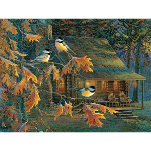 "SunsOut (29034) - Sam Timm: ""Cabin Chickadees"" - 500 pieces puzzle"