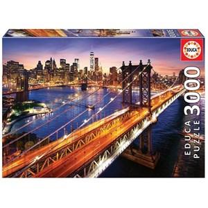"""Educa (18508) - """"Manhattan at dusk"""" - 3000 pieces puzzle"""