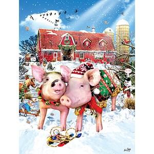 "SunsOut (35028) - Lori Schory: ""Christmas Sweater"" - 500 pieces puzzle"