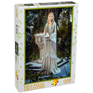 "Gold Puzzle (61642) - ""Queen of Elves"" - 1500 pieces puzzle"
