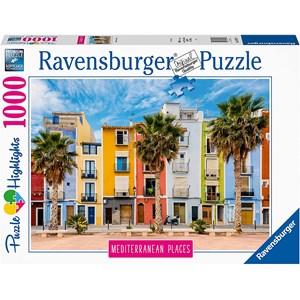 """Ravensburger (14977) - """"Alicante, Villajoyosa"""" - 1000 pieces puzzle"""