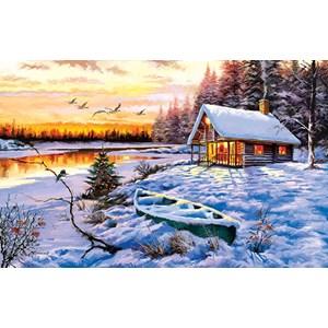 """SunsOut (52766) - The MacNeil Studio: """"Log Cabin"""" - 550 pieces puzzle"""