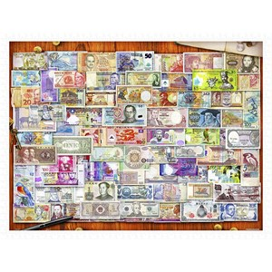 "Pintoo (h2086) - Garry Walton: ""Currency of the World"" - 1200 pieces puzzle"