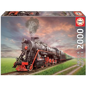 """Educa (18503) - """"Stream Locomotive"""" - 1000 pieces puzzle"""