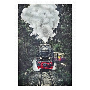 "Pintoo (h2159) - ""The Steam Train, Switzerland"" - 600 pieces puzzle"