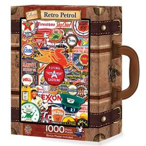 "MasterPieces (71815) - ""Puzzle in Suitcase, Retro Petrol"" - 1000 pieces puzzle"