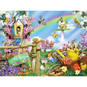 "SunsOut (34878) - Lori Schory: ""Spring Egg Hunt"" - 500 pieces puzzle"