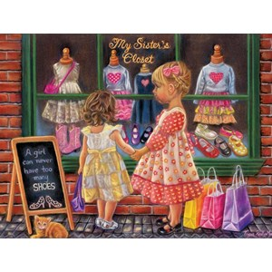 "SunsOut (35858) - Tricia Reilly-Matthews: ""My Sister's Closet"" - 500 pieces puzzle"