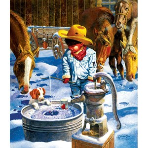"""SunsOut (36021) - Don Crook: """"Ice Fishing"""" - 550 pieces puzzle"""