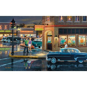 "SunsOut (37767) - Ken Zylla: ""Small Town Saturday Night"" - 550 pieces puzzle"