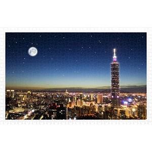 """Pintoo (h1719) - """"Taipei Skyline"""" - 1000 pieces puzzle"""