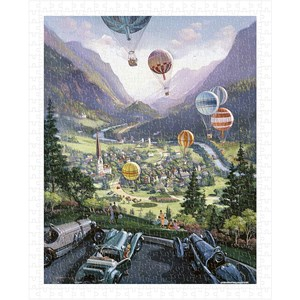 """Pintoo (h1644) - Michael Young: """"Up Up and Away"""" - 500 pieces puzzle"""