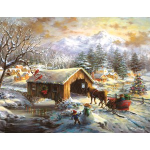 "SunsOut (19319) - Nicky Boehme: ""Over the Covered Bridge"" - 1000 pieces puzzle"