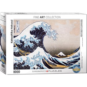 "Eurographics (6000-1545) - Hokusai: ""Great Wave of Kanagawa"" - 1000 pieces puzzle"