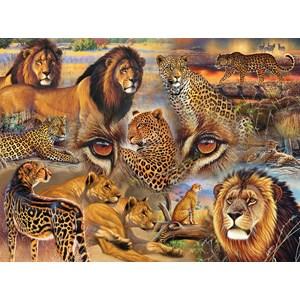 """SunsOut (70934) - Janet Stever: """"Big Cats of the Plains"""" - 500 pieces puzzle"""