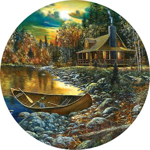 """SunsOut (74106) - Jim Hansel: """"Fall Cabin"""" - 500 pieces puzzle"""