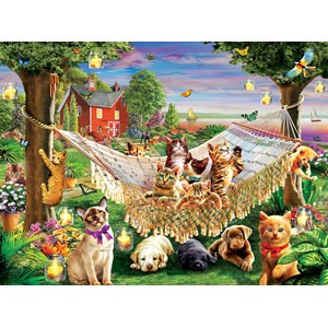 "SunsOut (51830) - ""Kittens Puppies and Butterflies"" - 500 pieces puzzle"