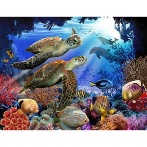 "SunsOut (28804) - Tom Wood: ""Underwater Fantasy"" - 500 pieces puzzle"