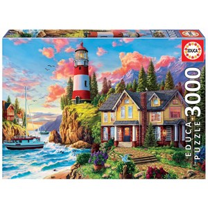 "Educa (18507) - ""Lighthouse Near The Ocean"" - 3000 pieces puzzle"
