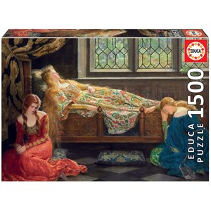 """Educa (18464) - John Collier: """"The Sleeping Beauty"""" - 1500 pieces puzzle"""
