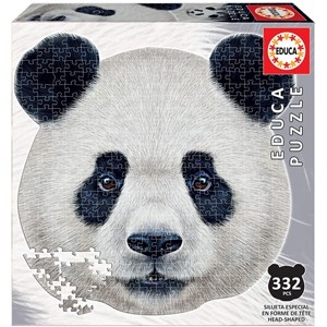 """Educa (18476) - """"Panda Face"""" - 353 pieces puzzle"""