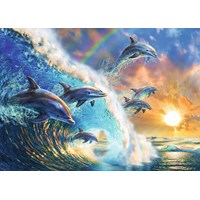 "Ravensburger (19580) - Adrian Chesterman: ""Dancing Dolphins"" - 1000 pieces puzzle"