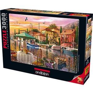 """Anatolian (4905) - Dominic Davison: """"Sunset Harbour"""" - 3000 pieces puzzle"""