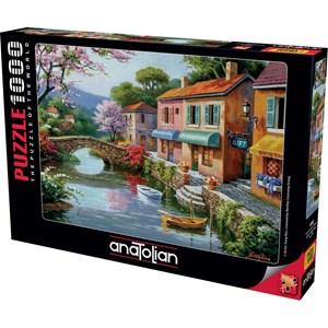 """Anatolian (1053) - Sung Kim: """"Quaint Village Shops"""" - 1000 pieces puzzle"""