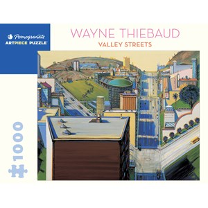 """Pomegranate (aa1080) - Wayne Thiebaud: """"Valley Streets"""" - 1000 pieces puzzle"""
