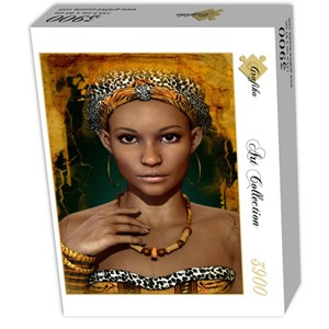 """Grafika (01302) - """"African Woman"""" - 3900 pieces puzzle"""