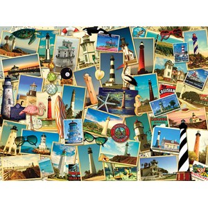 """SunsOut (70061) - Kate Ward Thacker: """"Southern Lighthouses"""" - 1000 pieces puzzle"""