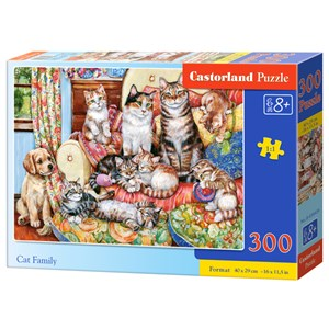 "Castorland (B-030439) - ""Cat Family"" - 300 pieces puzzle"