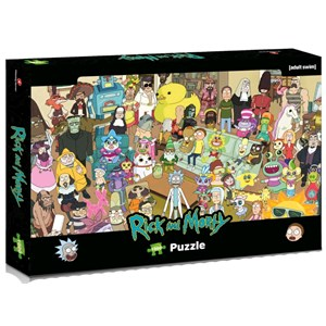 """Winning Moves Games (39703) - """"Rick and Morty"""" - 1000 pieces puzzle"""