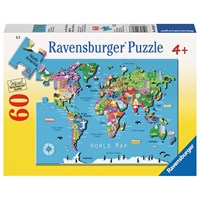 "Ravensburger (09607) - ""World Map"" - 60 pieces puzzle"
