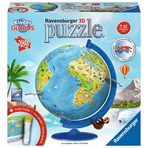 "Ravensburger (11160) - ""Children's Globe in German"" - 180 pieces puzzle"
