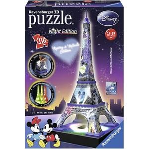 """Ravensburger (12520) - """"Disney Eiffel Tower"""" - 216 pieces puzzle"""