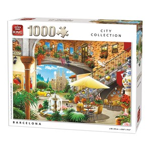 "King International (55853) - ""Barcelona"" - 1000 pieces puzzle"
