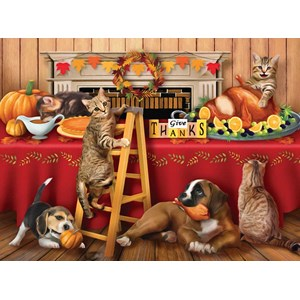 """SunsOut (29722) - Tom Wood: """"Give Thanks"""" - 300 pieces puzzle"""