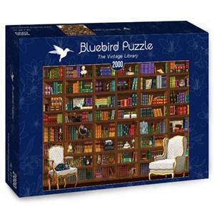 "Bluebird Puzzle (70274) - Matthieu Martin: ""The Vintage Library"" - 2000 pieces puzzle"