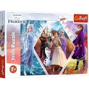 "Trefl (13249) - ""Frozen II"" - 200 pieces puzzle"