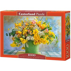 "Castorland (C-104567) - ""Spring Flowers in Green Vase"" - 1000 pieces puzzle"