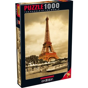 "Anatolian (PER3193) - Sefik Bayram: ""The Eiffel Tower"" - 1000 pieces puzzle"