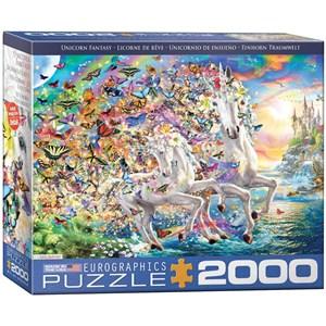 "Eurographics (8220-5551) - ""Unicorn Fantasy"" - 2000 pieces puzzle"
