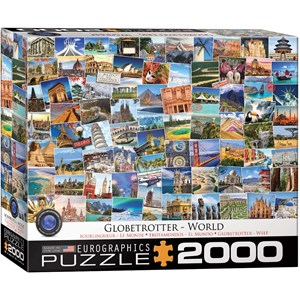 "Eurographics (8220-5480) - ""World Globetrotter"" - 2000 pieces puzzle"