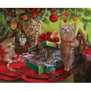 "SunsOut (49070) - Sandra Bergeron: ""Kissmass Play Toys"" - 1000 pieces puzzle"