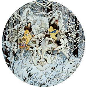 """SunsOut (43001) - Diana Casey: """"Keeper of the Wolf"""" - 1000 pieces puzzle"""