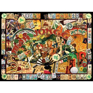 "SunsOut (70041) - Kate Ward Thacker: ""Mah Jongg Masters"" - 1000 pieces puzzle"