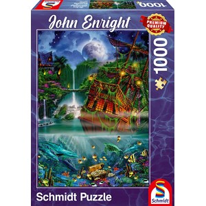 "Schmidt Spiele (59685) - John Enright: ""Sunken treasure"" - 1000 pieces puzzle"