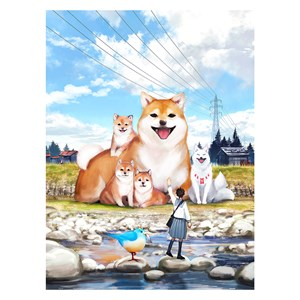 """Pintoo (h2307) - Monokubo: """"A Sunny Day Stroll"""" - 1200 pieces puzzle"""